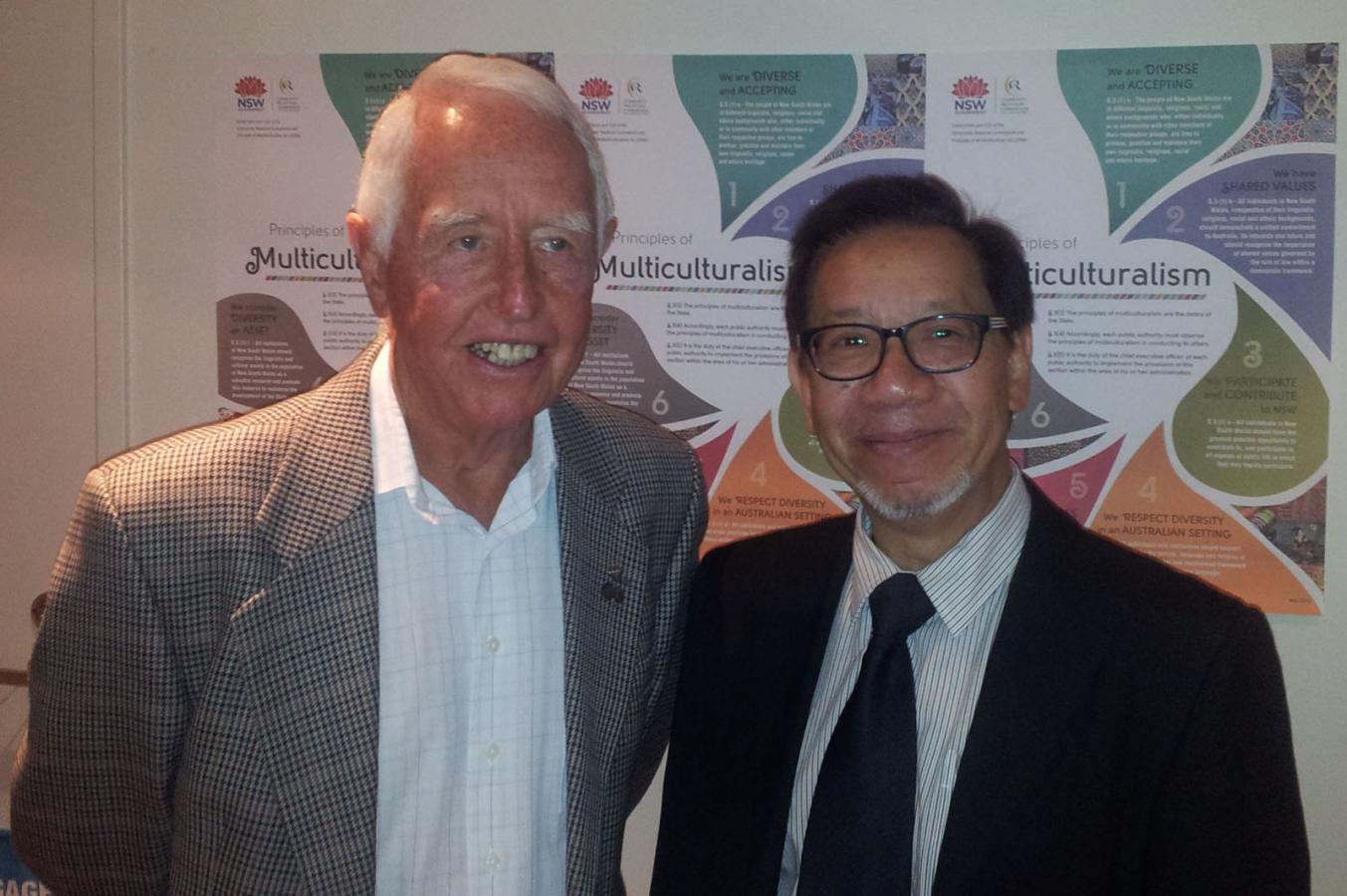 President Keith with Anthony pang